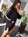 Прямое платье худи из трехнитки на флисе с капюшоном 66plt200Е, фото 4