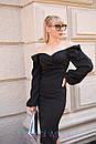 Платье - футляр с открытыми плечами и фигурным вырезом горловины 2plt205, фото 2