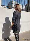 Твидовое платье трапеция с рукавом 3/4 31plt209, фото 2