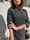 Твидовое платье трапеция с рукавом 3/4 31plt209, фото 3