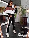 Спортивный женский костюм на флисе с кофтой на молнии 66spt778Е, фото 3