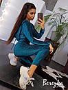 Женский спортивный костюм из люрекса с укороченной кофтой на молнии 66spt786Е, фото 3