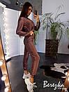 Женский спортивный костюм из люрекса с укороченной кофтой на молнии 66spt786Е, фото 4