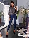 Женские стрейчевые зауженные джинсы на средней посадке 66bil381Q, фото 2