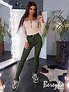 Женские стрейчевые зауженные джинсы на средней посадке 66bil381Q, фото 3