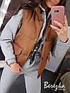 Женский плащевый жилет на синтепоне с воротником - стойкой и карманами 66zil42Q, фото 7