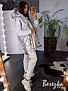 Женская жилетка удлиненная дутая с капюшоном и кулиской 66zil43Е, фото 5
