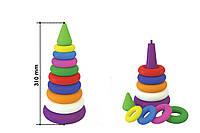 """Іграшка """"Пірамідка видувна ТехноК"""", 2360 (10шт) в сітці 31×15×15 см"""