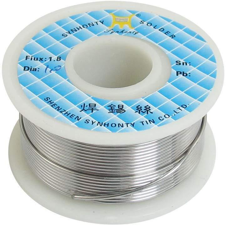 Припой для пайки оловянно-свинцовый Sn63/Pb37 1 мм с флюсом, 50г