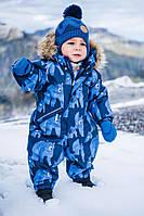 Зимние детские мембранные комбинезоны Reimatec Lappi голубые мишки, 74 р.