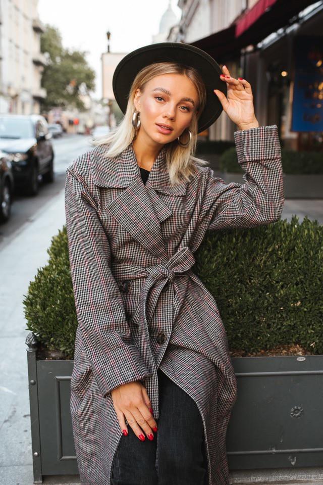 Женское Женские пальто оверсайз миди из шерсти под пояс 14mpa230, фото 1