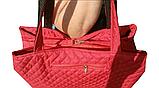 Сумка женская красная 064F, фото 4