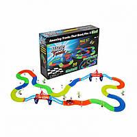 Детский светящийся гибкий трек Magic Tracks 360 деталей (2 машинки ), фото 1