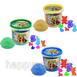 """Детский кинетический песок ведерко 1 кг светиться в темноте """"Magic sand"""" 3 цвета Strateg"""