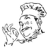 Трафарет 14х20 см Французький кухар