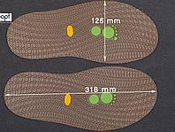 Резиновая подошва/след для обуви BISSELL, т. 3,65 мм, art.111, цв. тропик
