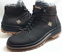 Кожаные ботинки в стиле Columbia (model-333) чёрно-коричневые (шнурок+молния) размеры 41, 42, 44, фото 1