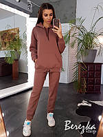 Женский спортивный костюм на флисе с удлиненным худи 66msp784Е, фото 1
