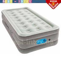 Односпальная надувная велюр-кровать Bestway 67622