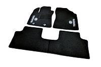 Коврики в салон ворсовые для Toyota Avensis (2009-) /Чёрные 3 шт BLCCR1606
