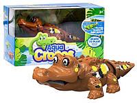 Интерактивная игрушка Крокодил коричневый (поёт, плавает)  Silverlit Agua Сrocos Moving