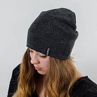 Молодежная шапка Nord унисекс удлиненная серый меланж (669) *