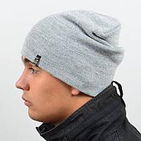 Молодежная шапка Nord унисекс удлиненная светло серый (669)