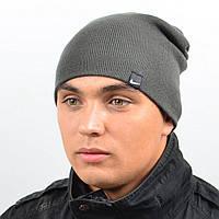 Молодежная шапка Nord унисекс удлиненная графитовый (669)
