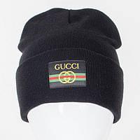 Молодежная Nord шапка c нашивкой черная (9563)**
