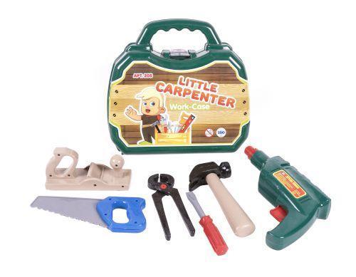 """Детский набор инструментов """"Столяр"""" в чемодане (6 шт) 205"""