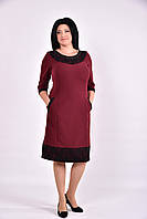 Бордовое платье миди | 0599-2 GARRY-STAR
