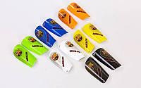 Щитки футбольные BARCELONA FB-6849 (пластик, EVA, l-14х8см, р-р S-L, цвета в ассортименте)