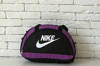 Сумка черная с фиолетовыми вставками Nike, Найк, ф1591