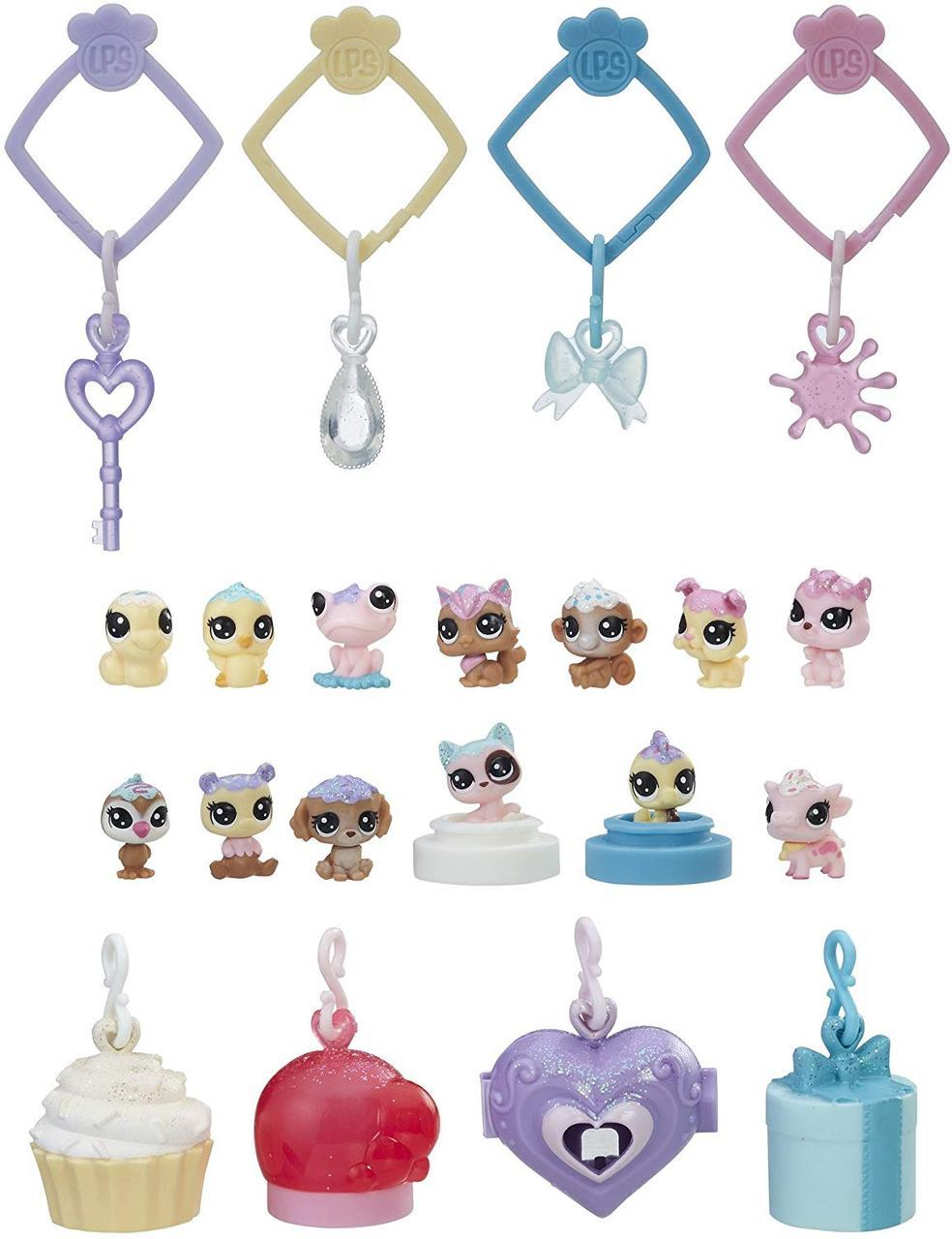 Лител пет шоп Набор Брелков с питомцами  Оригинал Hasbro Littlest Pet Shop Литлес лпс лпш  LPS