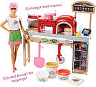 Большой набор Кукла Барби Пицца - шеф с пластилином Готовим вместе Barbie Pizza Chef, фото 4