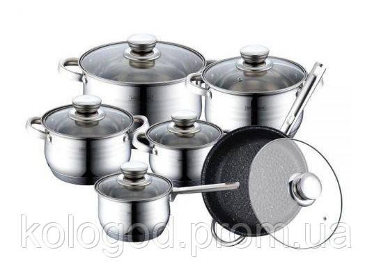 Набор Посуды Качественный Комплект Для Дома BOHMANN BH 1241 10 Предметов