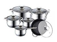 Набор Посуды Качественный Комплект Для Дома BOHMANN BH 1241 10 Предметов, фото 1