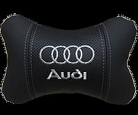 Подушка на подголовник под шею AUDI серебро