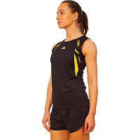 Форма для легкой атлетики женская LD-8308-3 (полиэстер, р-р L-2XL(44-50), черный-желтый)