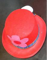 Шляпа карнавальная красная, арт. 460793