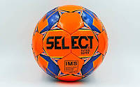 Мяч для футзала №4 ламин. ST SUPER ST-8142 оранжевый-синий (5 сл., сшит вручную)