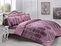 Двуспальное евро постельное белье TAC Rauma bordo Сатин-Delux