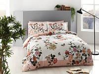 Двуспальное евро постельное белье Pierre Cardin Malory Pink Сатин-Digital