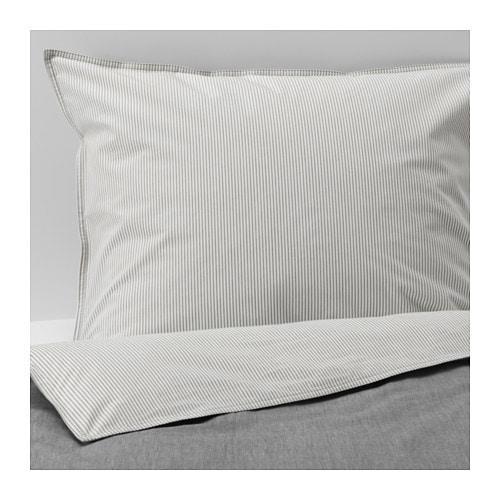 ИКЕА (IKEA) BLÅVINDA, 203.280.49, Комплект постельного белья, серый, 200x200/50x60 см - ТОП ПРОДАЖ