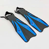 Ласты с открытой пяткой PL-8398-BL (размер S-XL (38-45), черный-синий)
