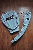 Зимний спортивный костюм , костюм на флисе Nike серый ,реплика