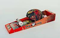 Скейтборд со шлемом LY-57 ENERO (колесо-PU, р-р деки 79х20х1,2, 608Z)