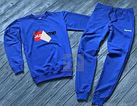 Зимний спортивный костюм, теплый костюм Supreme синего цвета, реплика