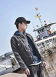 Легкая джинсовая куртка с заплатками на локтях, фото 2