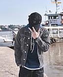 Легкая джинсовая куртка с заплатками на локтях, фото 3